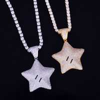 5 Angles Star Pendant Gold Chain Hip Hop Jewelry Designer Je...