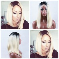 Wholesale Hot Sexy Cheap Dark Roots 1b 613# Ombre Blonde Sho...