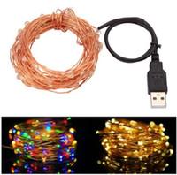 10 메터 33 피트 100led USB Led 구리 와이어 문자열 조명 요정 조명 방수 크리스마스 축제 웨딩 파티 화환 장식