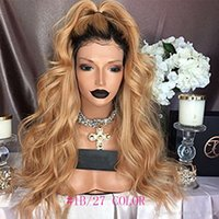 Ombre Blonde Human Hair Full Lace Wig Malaysian Virgin Hair ...