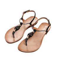 35d73f7b78344 Flats Shoes Women s Sandals Thong Women Shoes Flip Sandals Diamond Summer  PU Leather Shoes Beach Soft T-Strap Ladies