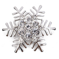 عيد الميلاد حجر الراين ندفة الثلج بروش للمرأة الذهب الفضة البدلة طية صدر السترة دبوس مجوهرات عيد الميلاد هدية مع شحن سريع