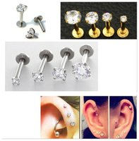 New Zircon Rings Mini Earrings Stud Ear Bone Nail Piercings ...