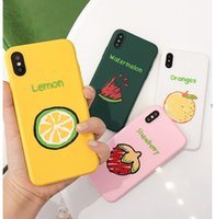 Ultra thin Soft Cartoon Case TPU Silicone Fruits Painted Pho...