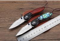 MIKER دمشق سكين للطي بقاء سكين حاد السكاكين التكتيكية أدوات الصيد بطاقة الائتمان مشرط التخييم