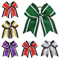 15pcs lot 8 inch Three Layers Grosgrain Ribbon Cheer Bows Wi...
