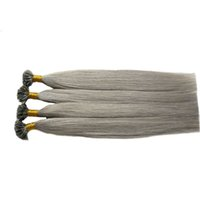 """1g/s 10-26"""" Remy Pre Bonded Human Hair Extension U Tip hair Silky Straight Professional Salon Fusion silver grey Colorful Hair Style 200g"""