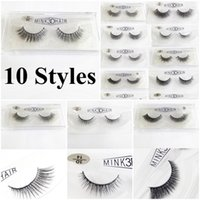 3D Mink False Eyelashes makeup Soft Mink Natural Thick False...