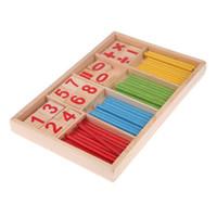 طفل لعبة الرياضيات العد العصي الخشبية ألعاب تعليمية هدية للأطفال التعلم المبكر عدد العد الرياضيات عصا حساب اللعب