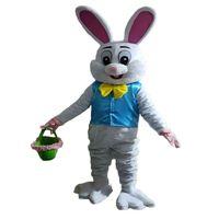 Nova Venda como Bolos Hot Professional Bunny Easter Mascot Traje Bugs Rabbit Hare Easter Adulto Mascote