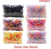 Über 1000pcs / pack Gummi Hairband Seil Silikon Pferdeschwanz Halter Elastic TPU Haar Halter Krawatte Gum Ringe Mädchen Haarschmuck