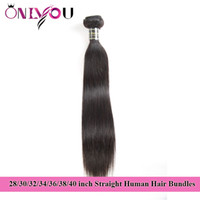 Onlyou Hair Products Raw Indian Straight Human Hair Bundles ...