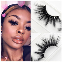 New Style 25mm 3D Mink Eyelashes Criss- cross Strands Cruelty...