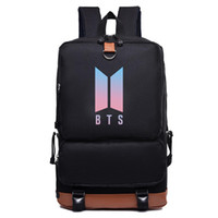 Bts bangtan بنين قماش حقيبة الظهر الكورية الأزياء الظهر بنين بنات حقيبة مدرسية حقيبة سفر للمراهقين bolsas الأنثوية