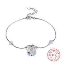 Lucky Clover Charm Bracelets Bangles LEKANI Crystals 925 Silver Beads Accesorios para Mujer Fine Jewelry S925 Sterling Silver Chain Bracelet