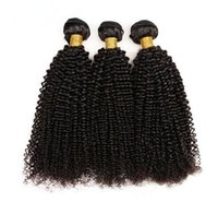 Afro Kinky Curly Human Hair Bundles Remy Hair Natural Black ...