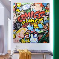 Alec Pintado a mano Impresión HD Graffiti pop arte callejero pintura al  óleo Arte de la b97a81b606a