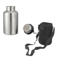 Nueva botella de agua caliente de la bebida de los deportes del acero inoxidable 1 determinado con el bolso del protector del gancho 2l