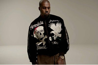 Mens Embroidered Skeleton Cardigan KANYE WEST Flight Pilot J...