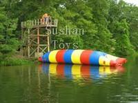 Livraison Gratuite Sushan 6X2M Gonflable Catapulte De L'eau Blob Jouet de Sport de L'eau Jouet Gonflable Saut D'Oreiller Flottant Eau Blob Pour Adultes