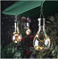 Maison Solaire Ampoule Étanche Solaire Rotatif En Plein Air Jardin De Camping Camping Suspension LED Lampe avec contrôle de la lumière Décoration Décoration