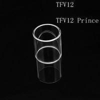 Sıcak Satmak Fit SMOK TFV12 TFV12 Prens Değiştirme Temizle Pyrex Cam Tüp Çan kap Değiştirme Temizle Pyrex Cam