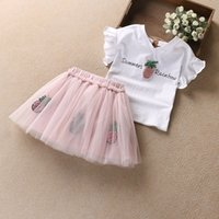 summer girl clothing set children girls princess clothes out...