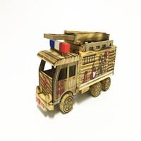 خشبي النار شاحنة الأطفال لعبة سيارة دييكاست نموذج السيارات