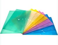 أكياس ملف المستند A4 مع زر انجذاب شفاف مغلفات ملفات بلاستيكية