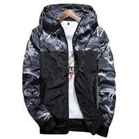 Hot Spring Autumn Männer S Camouflage-Mantel Herren-Pullover Casual-Jacke-Marken-Kleidung der Männer Windjacke Mäntel Mann Outwear 5xl