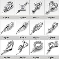 إعدادات قلادة اللؤلؤ 100 ٪ S925 إعدادات قلادة الشظية 12 أنماط DIY لؤلؤة قلادة إعدادات المجوهرات دون سلسلة هدايا عيد الميلاد