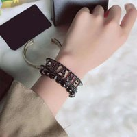 Europe and America Luxury Women Bracelets Bangles Gold Black...