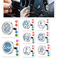 드롭 선박 자동차 벤트 클립 공기 청정제 에센셜 오일 디퓨저 316L 스틸 로켓 에센셜 오일 자동차 디퓨저 무료 10Pads