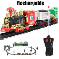 Classic Train Set for Kids with Smoke Realistic Sounds Light...