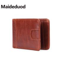 a59176343 Envío gratis 100% cuero genuino billetera hombres nueva marca monederos para  hombres rojo marrón amarillo