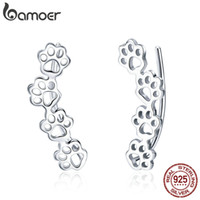 Paw Trail Lovely Cat and Dog Footprints Stud Earrings Fashio...