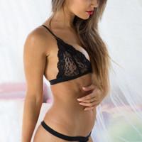 Sexiga trosor för kvinnor Underkläder Luccy Seamless Lace Nightwear Underkläder Babydoll G-String Solid Color Bra och Panty Set VM