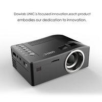 Original Unic UC18 Mini LED Proyector Portátil Portátil Proyectores de bolsillo Multi-Media Player Juego de cine en casa Admite HDMI USB TF Beamer