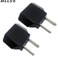 MLLSE 2pcs / lot 검은 범용 여행 전원 플러그 어댑터 유럽 연합 미국 미국 어댑터 변환기 AC 전원 플러그 어댑터 커넥터