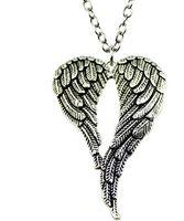 Envío gratis 20 unids / lote tibetano Silve estilo Vintage alas de ángel encantos collar de cadena DIY