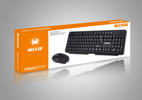 Wired keyboard and mouse set USB keyboard ps2 round single k...