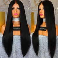 Pre Plucked Long Silky Straight Full Lace Human Hair Lace Wi...