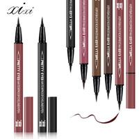 Yeni INS Sıcak XIXI Su Geçirmez Sweatproof Sıvı Eyeliner Kalem Serin Siyah çiçeklenme Değil Sıvı Renkli Eyeliner Kızlar Kozmetik