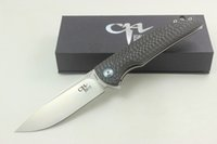 CH Knives Custom CH3510 Folding Knife VG10 Blade Ceramic Bal...