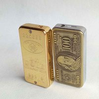 Newest Gold Brick and US Dollar print Shaped Butane Lighter ...