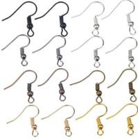300 teile / los (150 pairs) 20mm Rhodium Antiken Ohrring haken Ohr Draht DIY Schmuck Machen Erkenntnisse Ohrring Zubehör für Frauen