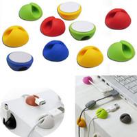 10pcs / Set Câble de couleur aléatoire Câble Clip Bureau Organisateur Tidy Cordon Fil Firm USB Chargeur Porte-cordon Titulaire de l'organisateur Table de sécurité
