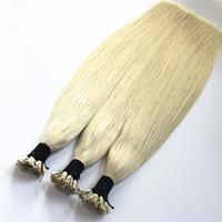 ELIBESS волос-Кератин я придерживаюсь кончик наращивание волос 1 г / strand 100 пряди / лот Prebonded человеческих волос