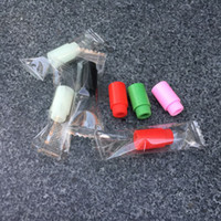 Boquilla de silicona ambiental cubierta punta de goteo desechable colorido prueba de silicona consejos probador tapa paquete individual para tanque subtanque