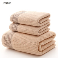 LYN&GY Honeycomb Breathable Cotton Fabric Towel Set 1PC Bath...